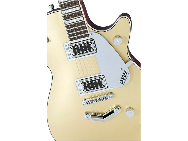 gretsch g5220 casino gold top angle
