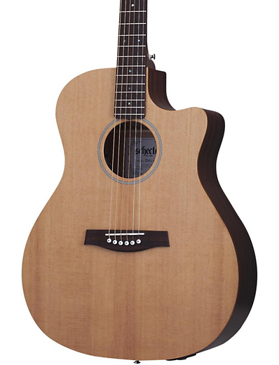 schecter deluxe acoustic mahogany natural