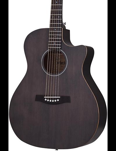 schecter deluxe acoustic mahogany