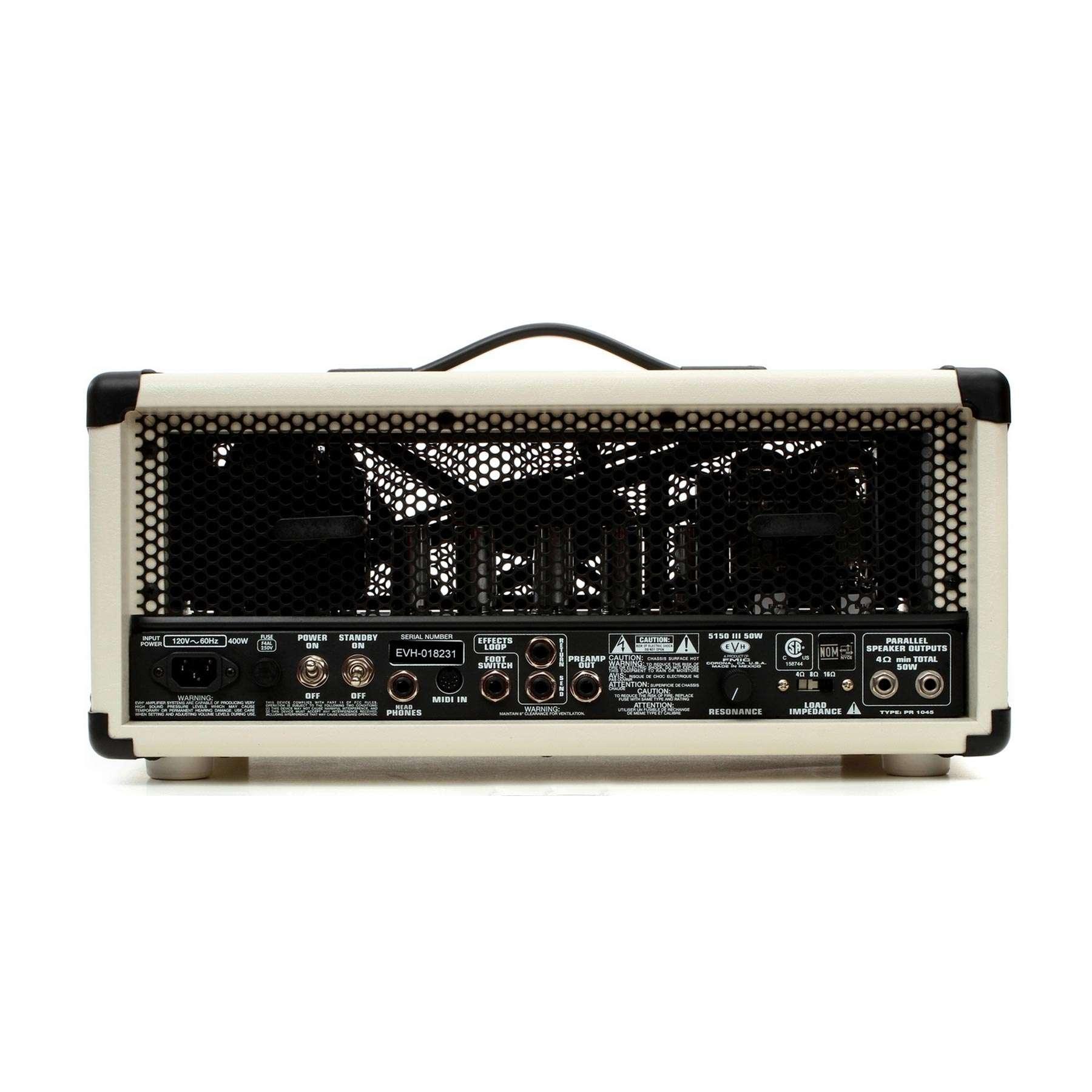 EVH 5150 III 50W AMP HEAD (BACK)