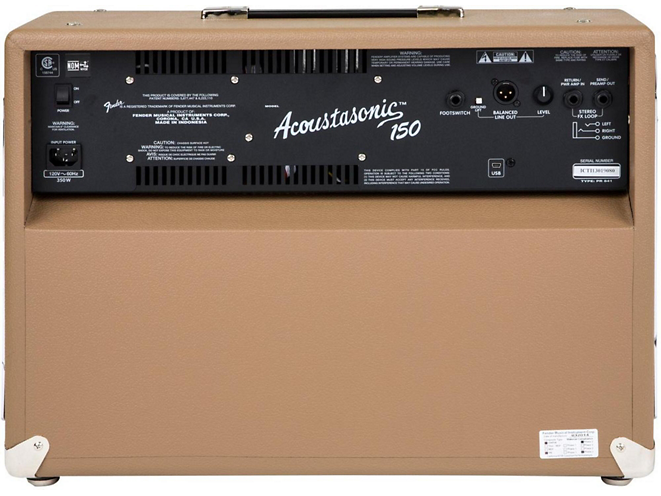 fender acoustasonic 150 back