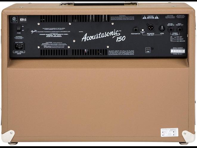 fender acoustasonic 150 back