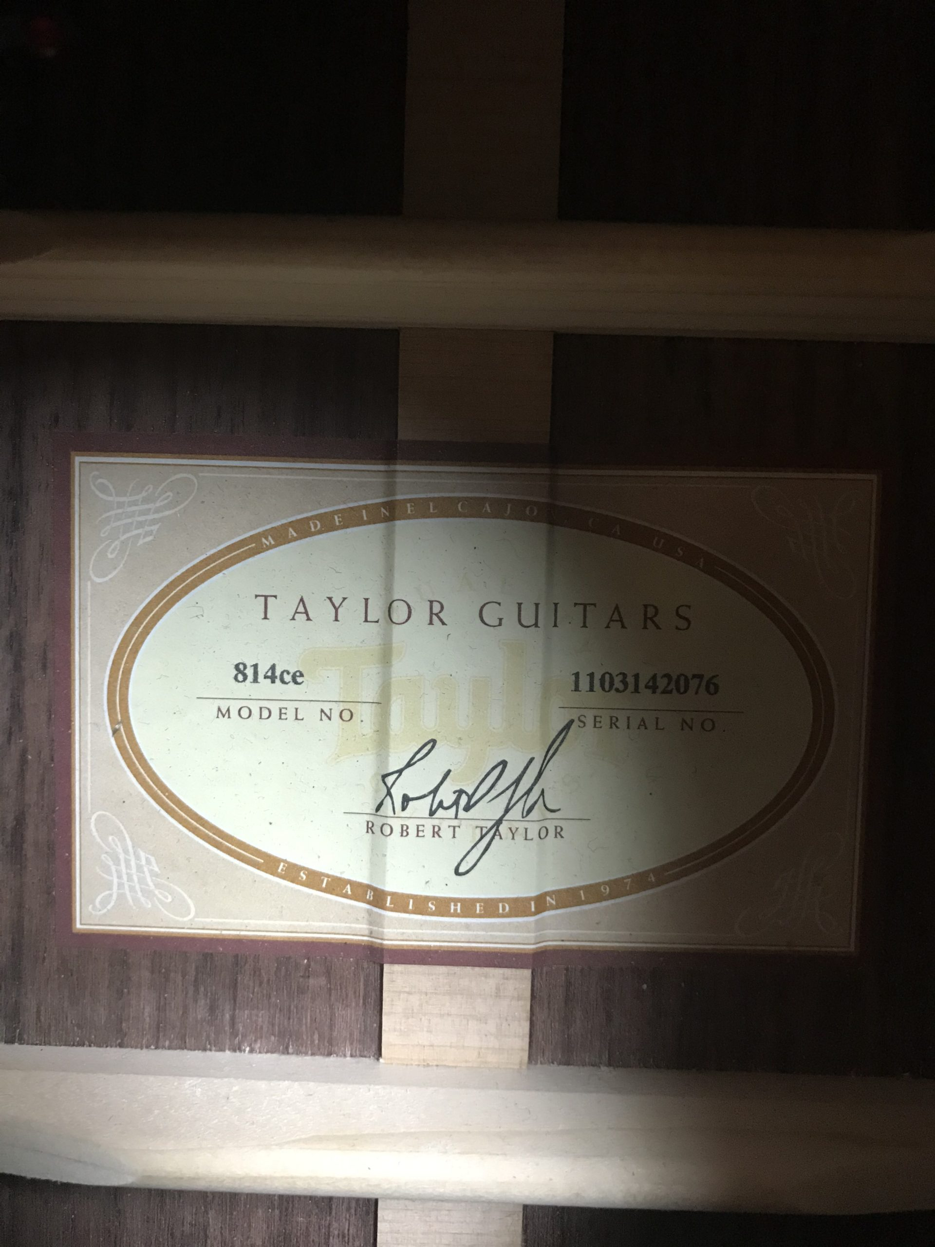 Taylor 814ce serial
